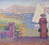 The Gate at Saint Tropez By Paul Signac