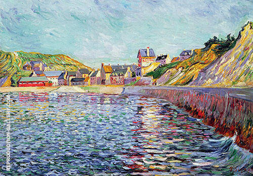 Port en Bessin Calvados c1884 Painting By Paul Signac