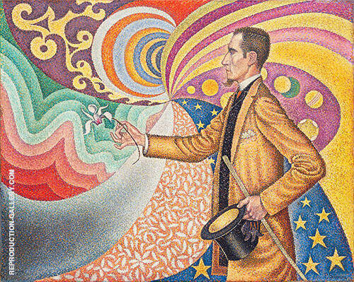 Portrait of Felix Feneon 1890 By Paul Signac