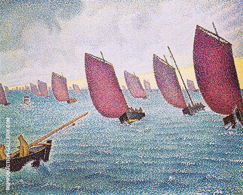 Regatta in Concarneau 1891 By Paul Signac