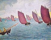 Regatta in Concarneau 1891 By Paul Signac