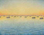 Setting Sun Sardine Fishing Adagio Opus 221 1891 By Paul Signac