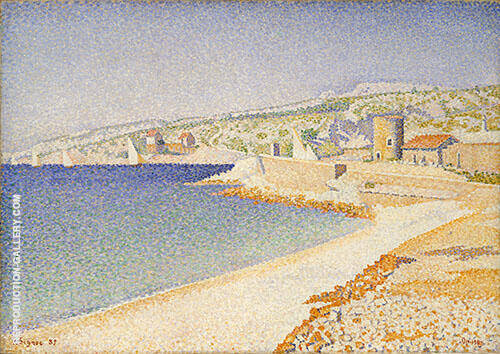 The Jetty at Cassis Opus198 1889 Painting By Paul Signac