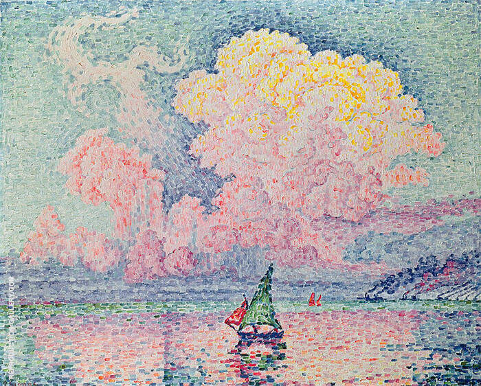 The Pink Cloud Antibes 1916 Painting By Paul Signac - Reproduction Gallery
