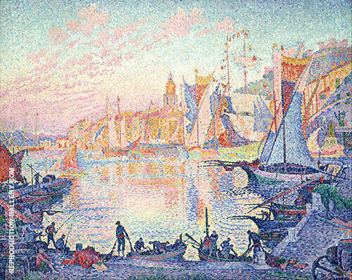 The Port of Saint Tropez 1901 Painting By Paul Signac