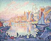 The Port of Saint Tropez 1901 By Paul Signac