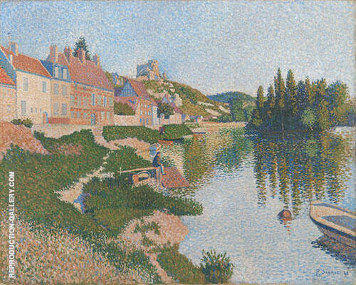 The River Bank 1886 Painting By Paul Signac - Reproduction Gallery