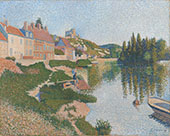 The River Bank 1886 By Paul Signac