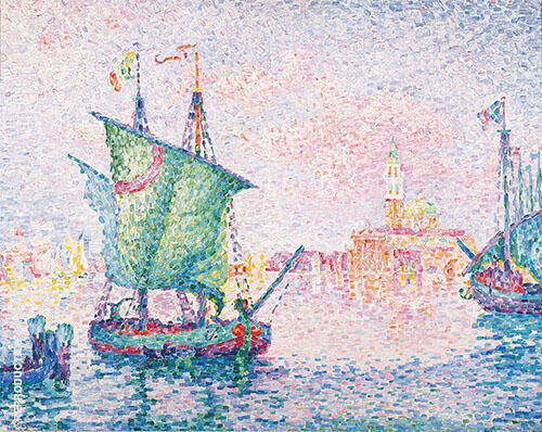 Venice The Pink Cloud 1909 Painting By Paul Signac - Reproduction Gallery