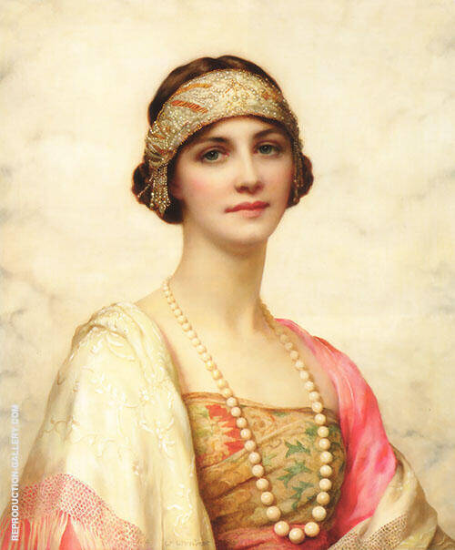 An Elegant Beauty 1920 Painting By William Clarke Wontner