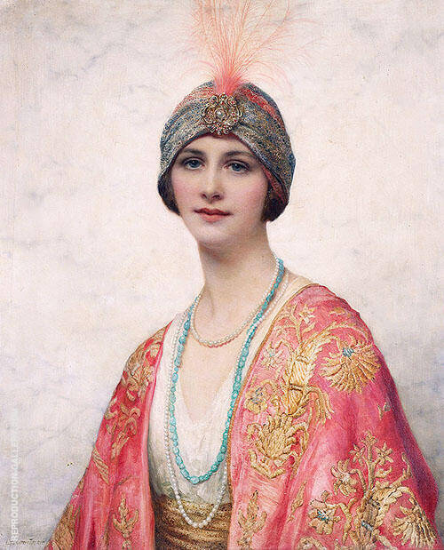 A Beauty in Eastern Costume Painting By William Clarke Wontner