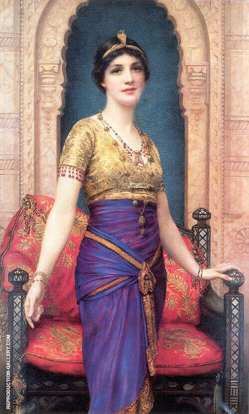 An Egyptian Beauty Painting By William Clarke Wontner