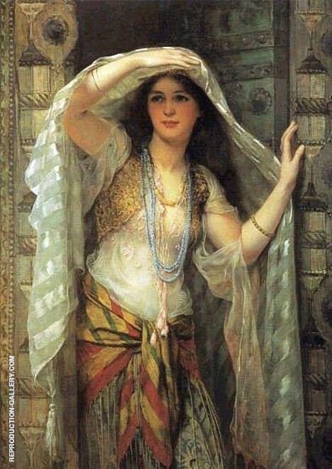 Lady of Baghdad 1900 Painting By William Clarke Wontner