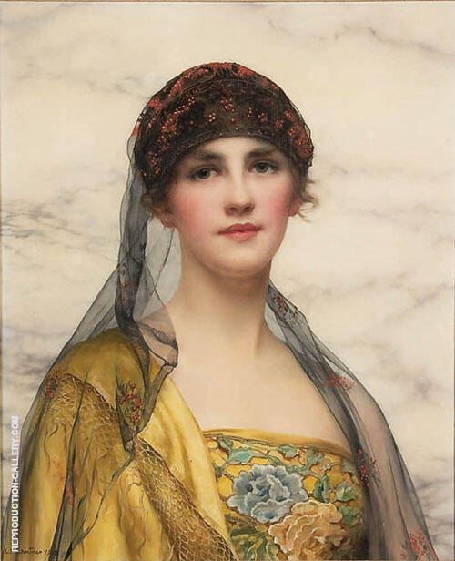 Portrait of a Beauty 1918 Painting By William Clarke Wontner
