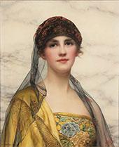 Portrait of a Beauty 1918 By William Clarke Wontner