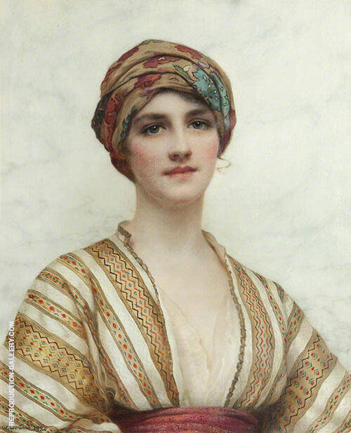 Portrait of a Young Woman Painting By William Clarke Wontner