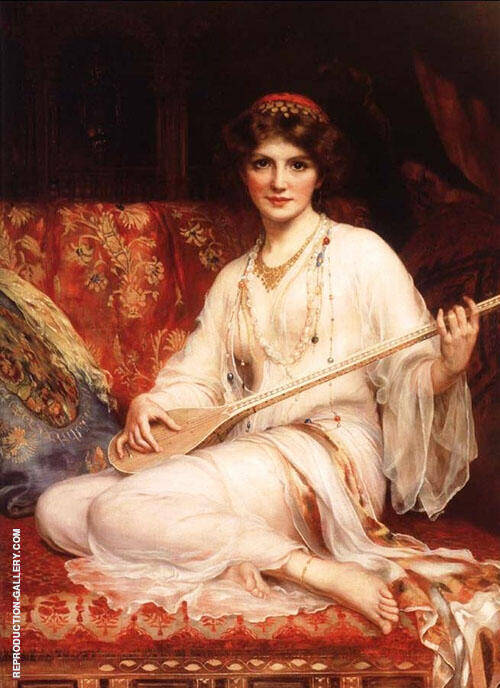 The Dancing Girl 1903 Painting By William Clarke Wontner
