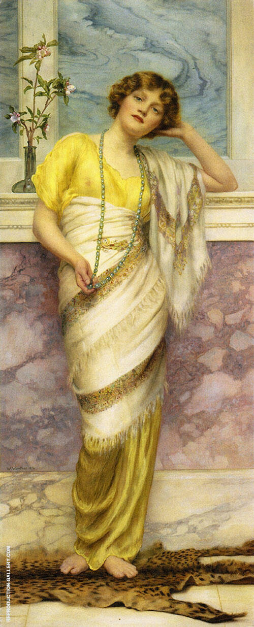 The Turquoise Necklace 1914 Painting By William Clarke Wontner