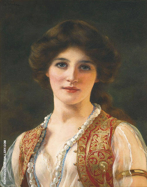 An Eastern Beauty 1900 Painting By William Clarke Wontner