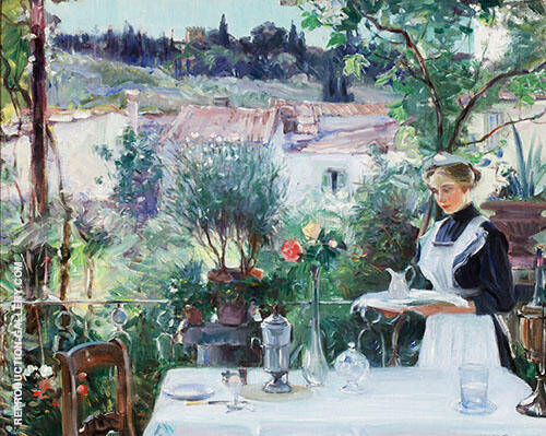 Breakfast on The Terrace 1913 By Oliver Dennett Grover