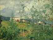 Hillside in Summer 1919 By Oliver Dennett Grover
