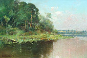 Landscape with Woods Fence and Water 1894 By Oliver Dennett Grover