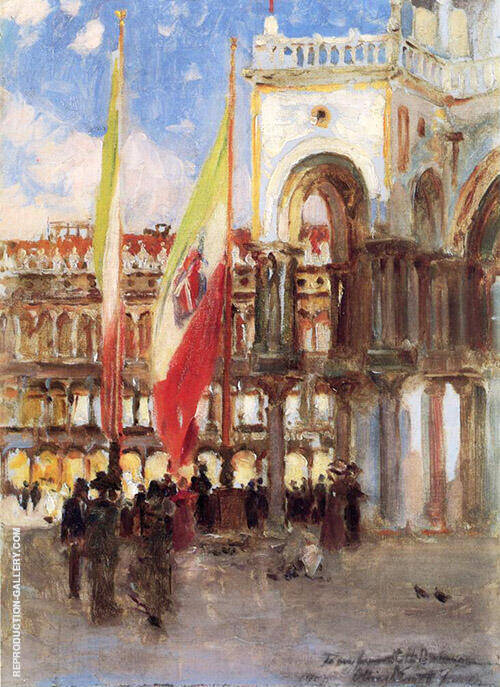 Piazza San Marco Venice By Oliver Dennett Grover