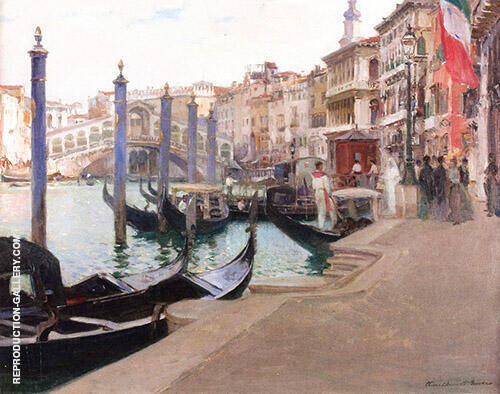 Wedding Day Rialto Bridge Venice 1908 By Oliver Dennett Grover