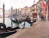 Wedding Day Rialto Bridge Venice 1908 By Oliver Dennett Grover