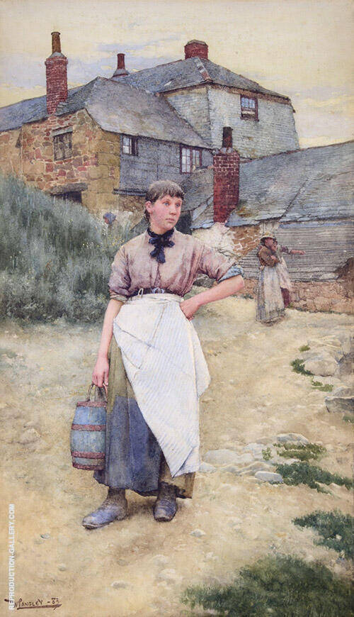 A Cornish Village Maiden 1883 By Walter Langley