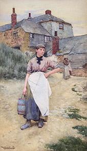 A Cornish Village Maiden 1883 By Walter Langley