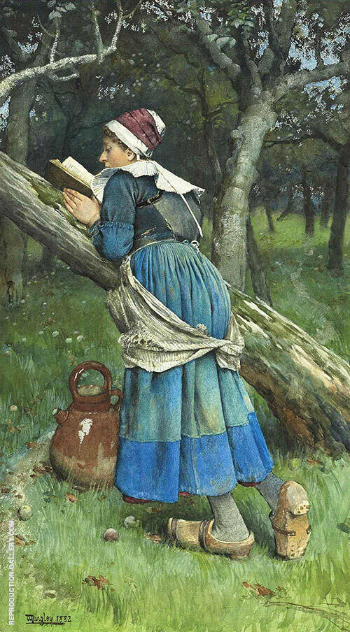 A Maid of Brittany 1882 By Walter Langley