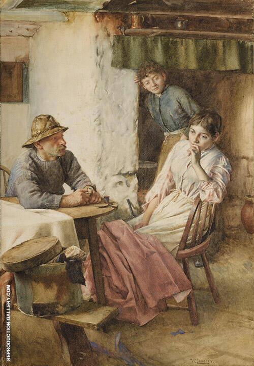 An Anxious Moment 1899 By Walter Langley
