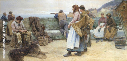 Departure of The Fleet 1896 By Walter Langley