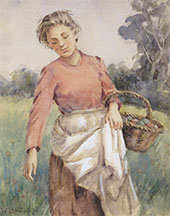 Gathering Apples By Walter Langley