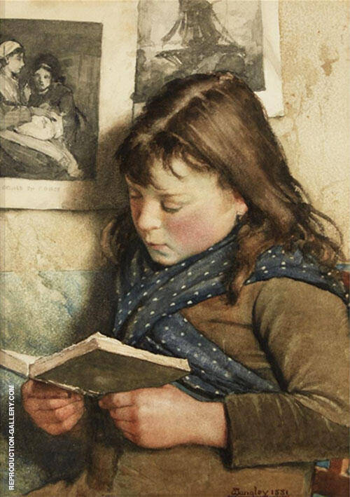 Girl Reading By Walter Langley