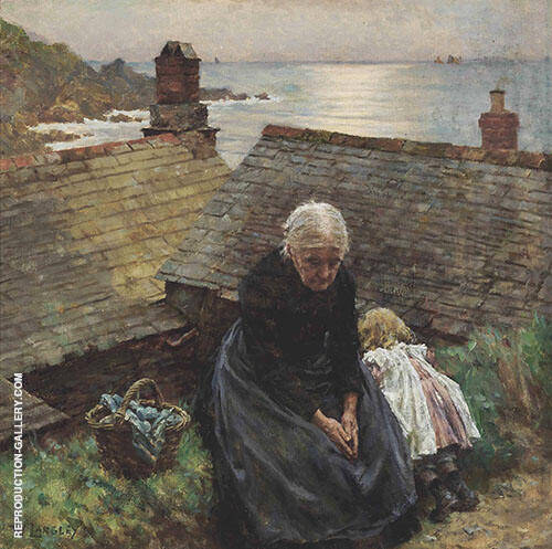 Meditation By Walter Langley