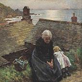 Meditation By Walter Langley