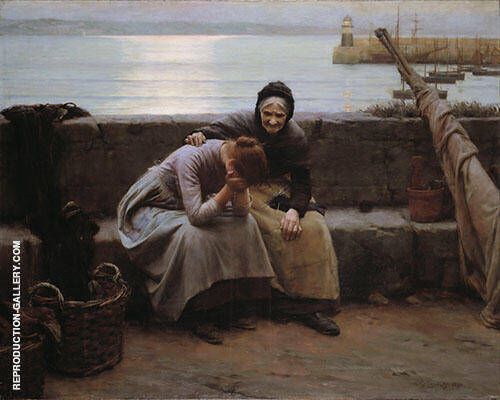 Never Morning Wore to Evening but Some Heart Did Break 1894 By Walter Langley