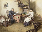 News of The Fleet By Walter Langley