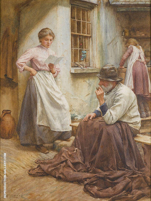Pleasant News By Walter Langley