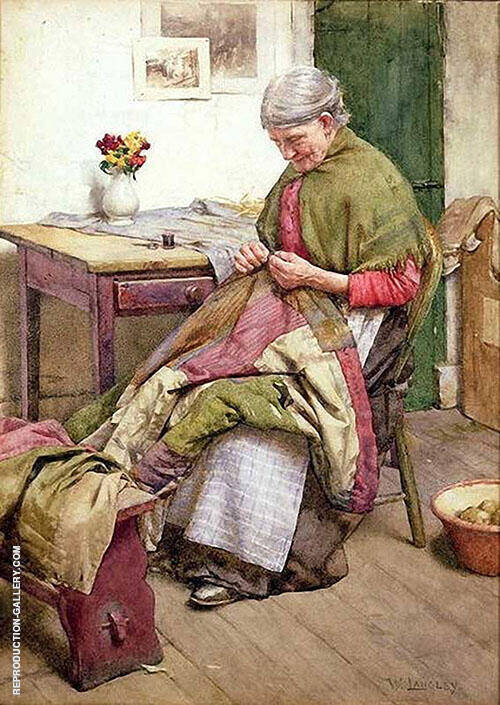 The Old Quilt By Walter Langley