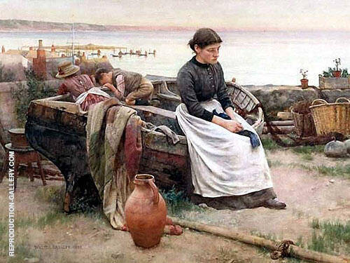 Touch of A Vanished Hand 1888 By Walter Langley