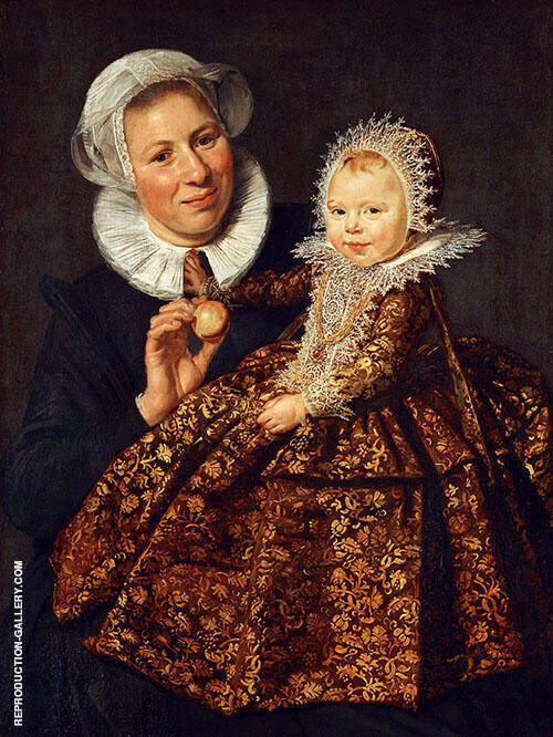 Catharina Hooft with Her Nurse 1619 By Frans Hals