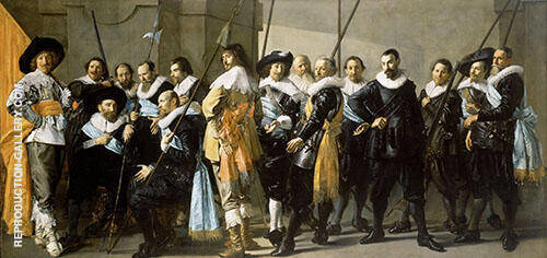 Magere Compagnie 1637 By Frans Hals