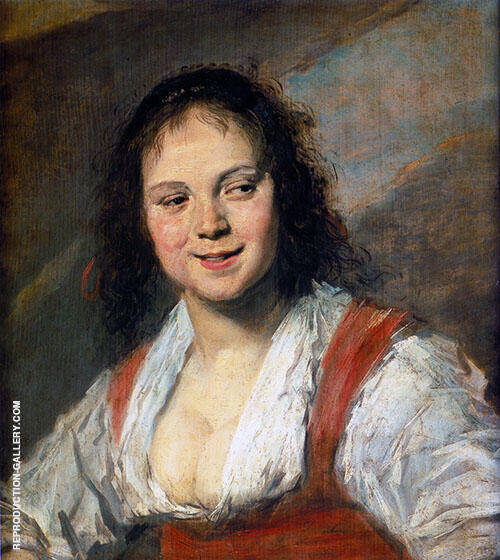 Gypsy Girl 1628 Painting By Frans Hals - Reproduction Gallery