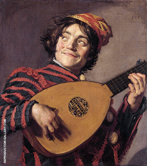Jester with a Lute 1620 Painting By Frans Hals - Reproduction Gallery