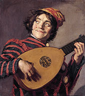 Jester with a Lute 1620 By Frans Hals