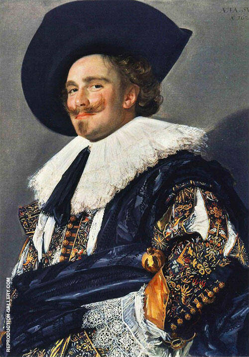 Laughing Cavalier 1624 Painting By Frans Hals - Reproduction Gallery
