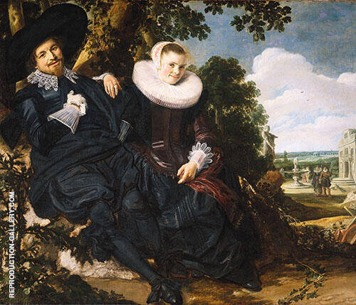 Married Couple in a Garden 1622 Painting By Frans Hals